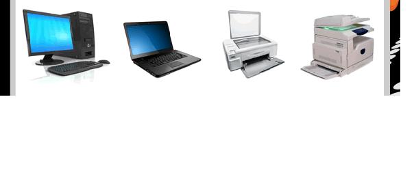 photocopieurs, imprimantes, ordinateurs...